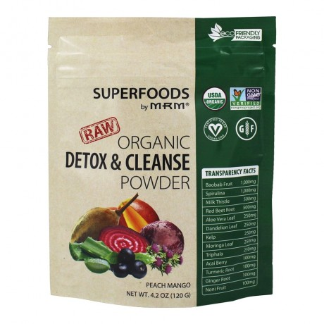 MRM Organic Detox & Cleanse Powder 120 g - Suplement diety