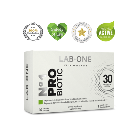 Lab One N°1 ProBiotic 30 cap - Suplement diety
