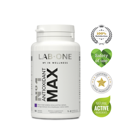Lab One - N°1 Antioxidant MAX – 50 cap  - suplement diety