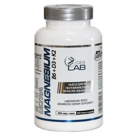 Gen Lab - Ultra Magnesium B6+D3+K2 60 vega caps. - suplement diety