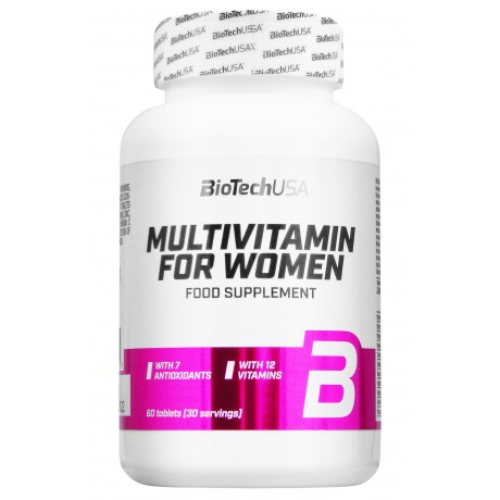 BioTech USA Multivitamin for women 60 tab - Suplement diety