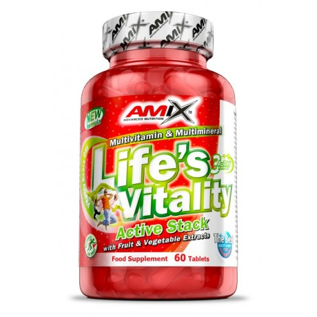 Amix - Lifes Vitality Active Stack 60 tabs. (NATURALNE WITAMINY) - Suplement diety.
