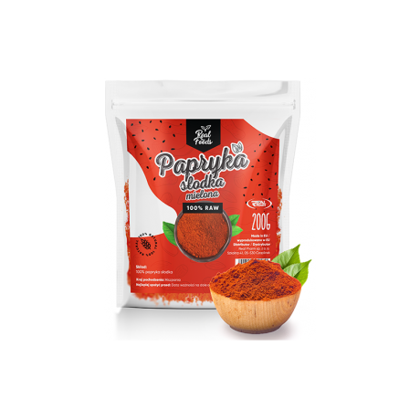Real Foods - Papryka słodka mielona 200 g